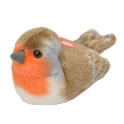 Peluche sonore rouge-gorge familier