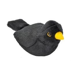 Peluche sonore merle noir