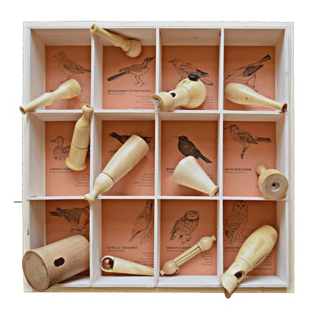 Coffret 12 Appeaux (dans une boîte en bois)