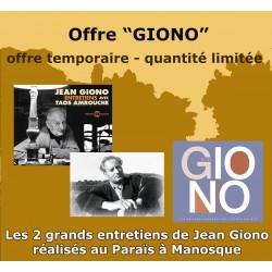 "OFFRE ""LES 2 GRANDS ENTRETIENS DE JEAN GIONO """