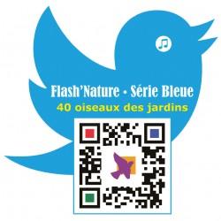 """Magnet Flash'Nature Série bleue """"40 oiseaux des jardins à découvrir au fil des mois"""""""