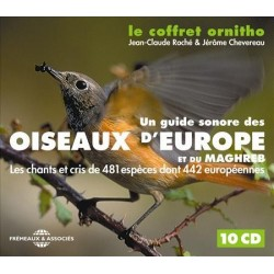 Coffret Ornitho : Oiseaux d'Europe et du Maghreb (10 CD)