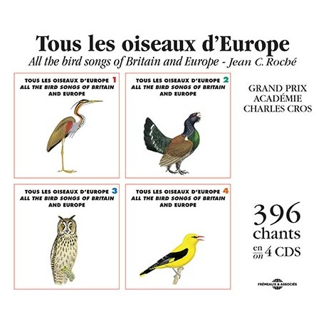 Box 4 CD All the bird songs of Britain and Europe (4CD)