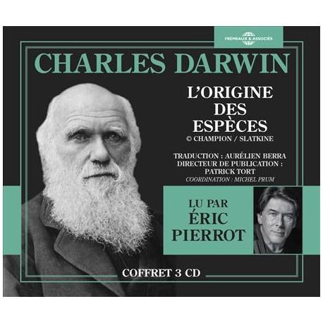 L'ORIGINE DES ESPÈCE - CHARLES DARWIN (Coffret 3 CD)