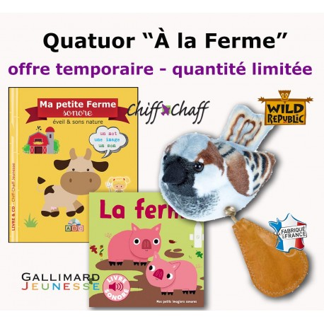 """Offre Tout-petits """"A la découverte des animaux de la Ferme"""""""