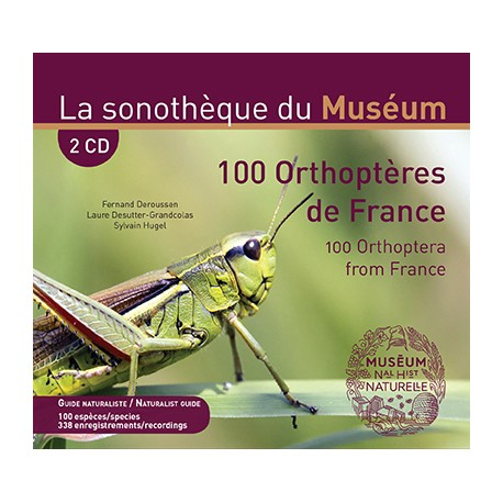 100 ORTHOPTERES DE FRANCE  (2 CD + livret 48 pages bilingue)