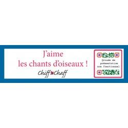 UNE ANNEE A L'ÉCOUTE DES OISEAUX (Lot de 5 cartes de voeux avec Qrcode)