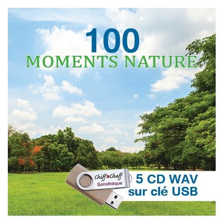 100 MOMENTS NATURE (5 CD WAV SUR CLÉ USB )