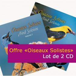 OFFRE 2 CD : Oiseaux solistes vol.1 + Oiseaux solistes vol.2 (boîtier cristal)
