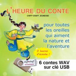 """USB KEY : """"L'HEURE DU CONTE"""" / 6 children's CDs"""
