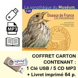 OISEAUX DE FRANCE, LES PASSEREAUX  (COFFRET CLÉ USB 5 CD MP3 + LIVRET)