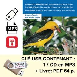CLÉ USB : Les oiseaux d'Europe (17 CD MP3 + livret PDF)