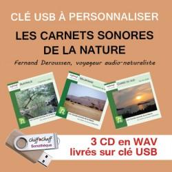 """CLÉ USB : 3 CD """"Carnets nature"""" au choix"""