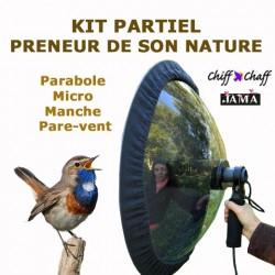 Kit partiel : parabole + micro + manche + pare-vent
