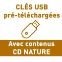 """CLÉS USB AVEC """"CD NATURE"""""""